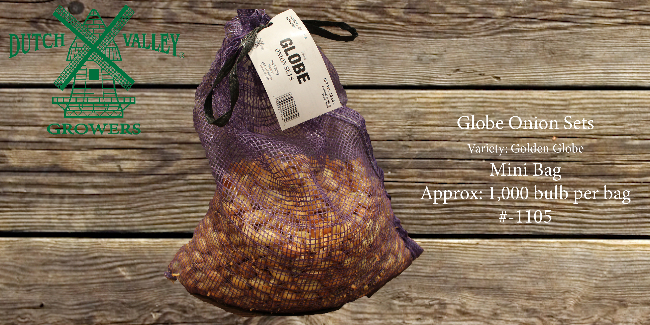 10# Globe Onion Sets Mini Bag