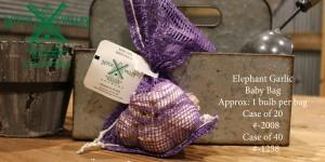 Elephant Garlic Baby Bag