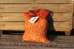 Yellow Onion Set in Bushel Bag Product #-1321 UPC# 043792013216