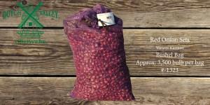 32# Red Onion Sets Bushel Bag