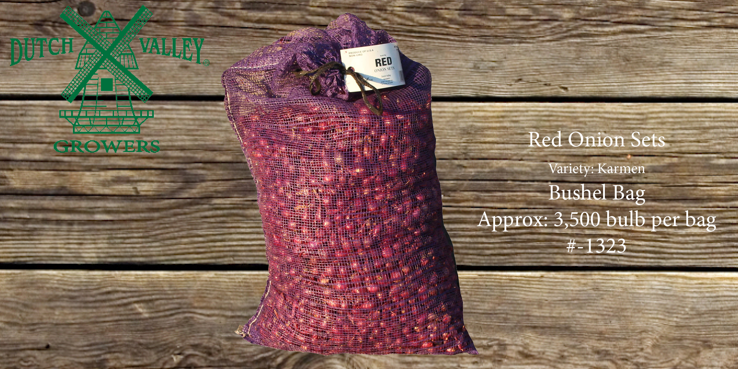 32# Red Onion Sets Bushel Bag