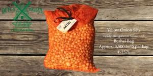32# Yellow Onion Sets Bushel Bag